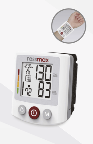 Rossmax AUTOMATIC WRIST BLOOD PRESSURE MONITOR AT INTERAKTIV HEALTH