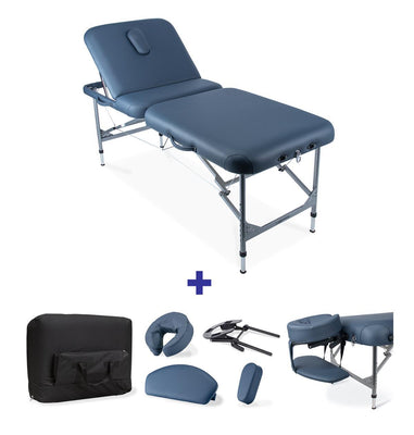 Centurion portable table with adjustable backrest package deal comes with face crest, arm sling, face hole plug and carry bag ideal for physiotherapy, first aid room, home treatments, portable doctors table
