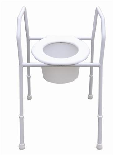 STEEL OVER TOILET AID, WITH SEAT AND SPLASHGUARD AT INTERAKTIV HEALTH