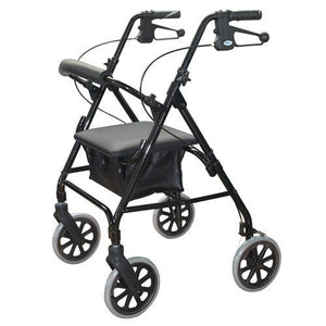 "ROLLATOR WALKER 8"" WITH PADDED SEAT AND HAND BRAKES AT INTERAKTIV HEALTH"