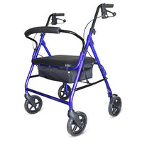 BLUE HEAVY DUTY ROLLATOR 220KG USER WEIGHT AT INTERAKTIV HEALTH