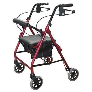"ROLLATOR WALKER 6"" WITH PADDED SEAT AND HAND BRAKES AT INTERAKTIV HEALTH"