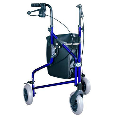 3 WHEELED FOLDING WALKER IN BLUE AT INTERAKIV HEALTH