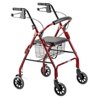 ROLLATOR SEAT WALKER WITH HANDBRAKES AND CURVED BACKREST AT INTERAKTIV HEALTH