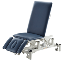 5 section electric treatment table with adjustable back rest