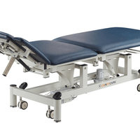 5 section electric treatment table with adjustable headrest