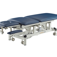 5 section electric treatment table with arm rests