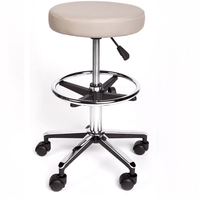 Round top gas lift stool with foot ring