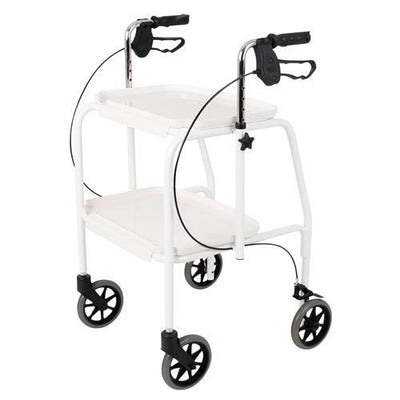 ADJUSTABLE HEIGHT TROLLEY WALKER WHITE AT INTERAKTIV HEALTH