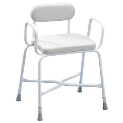 bariatric shower chair with padded seat and back rest