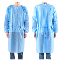 Disposable isolation gown, ties at the back, elastic cotton cuff, PPE, gown, dental, medical, hospital,