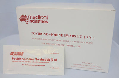 Swab Sticks- 1% Providone Iodine-Medical Industries-InterAktiv Health