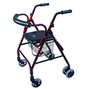 ROLLATOR SEAT WALKER WITH COMPRESSION BRAKES AND CURVED BACKREST AT INTERAKTIV HEALTH