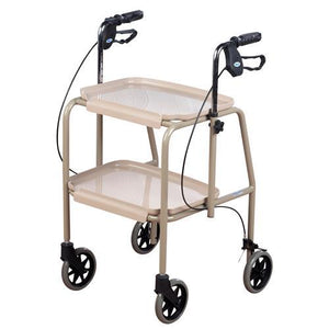 ADJUSTABLE HEIGHT TROLLEY WALKER BEIGE AT INTERAKTIV HEALTH