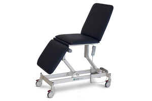 AMC2250 Opal 3 section examination treatment table with all electric function, electric height adjustable, electric bak rest adjustment, electric leg rest adjustment, Forme medical Opal AMC 2550, orthopedic surgeons, GP examination table, physiotherapy, ultrasound imaging