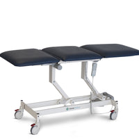 AMC2250 Opal 3 section examination treatment table with all electric function, electric height adjustable, electric bak rest adjustment, electric leg rest adjustment, Forme medica, orthopedic surgeons, GP examination table, physiotherapy, ultrasound imaging