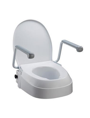 RAISED TOILET SEAT WITH ARMRESTS AT INTERATKIV HEALTH
