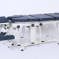 Chiropractic table, drop table, chiropractic drop table, fixed height chiropractic table, chiro drop section table, thoracic drop, pelvic drop, lumbar drop, cervical drop, interaktiv health, pacific medical