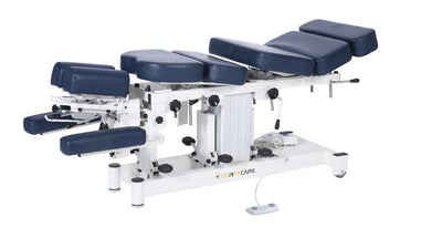 Chiropractic table, drop table, chiropractic drop table, height adjustable chiropractic table, chiro drop section table, thoracic drop, pelvic drop, lumbar drop, cervical drop, interaktiv health, pacific medical