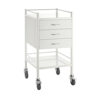 3 Drawer Dressing Trolley Powder Coated Steel