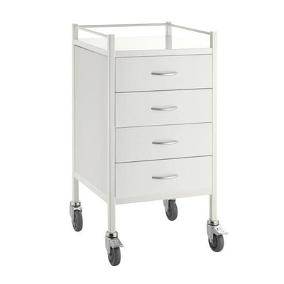 4 Drawer Power Coated Dressing Trolley at InterAktiv Health
