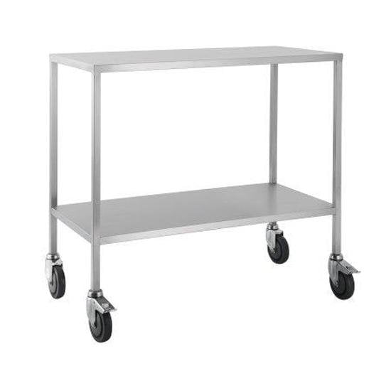 Stainless Steel Trolley -Flat Top with shelf 60cm