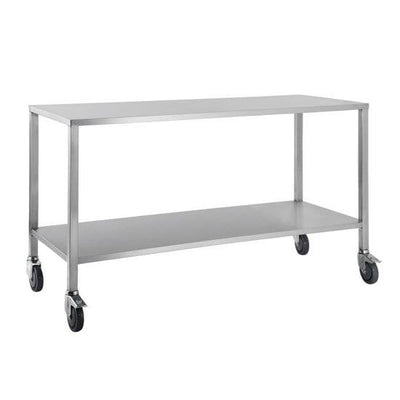 Flat Top Stainless Steel Trolley 80cm wide