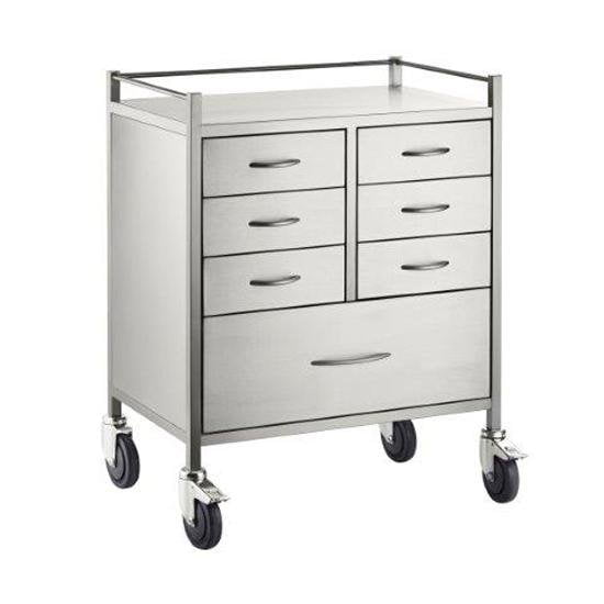 Stainless Steel 7 Drawer Trolley
