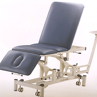 Traction Physio Table 3 section with Flexion Stool