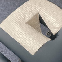 Hygienic face cradle cover, disposable face crest paper cover for massage tables