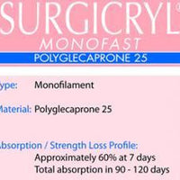 Suture,Surgicryl Monofast,Absorbable-SURGICRYL-InterAktiv Health