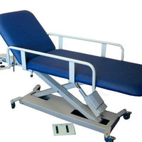 Patient side rails on the all electric SX2 medical couch