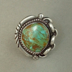 Old Pawn Native American Navajo Turquoise Ring 2