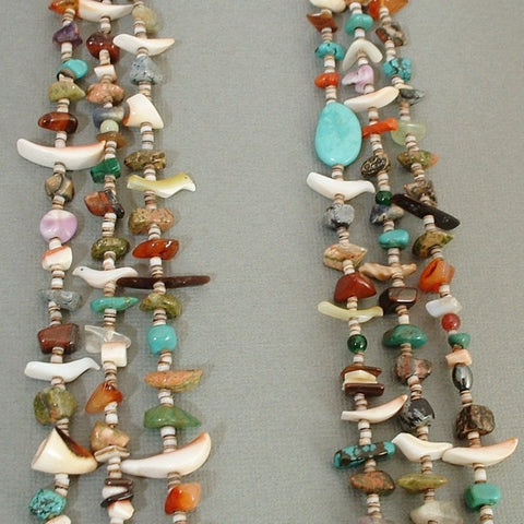 Vintage SANTO DOMINGO Necklace Chiclet Treasure Coral Turquoise Jewelry - Years After