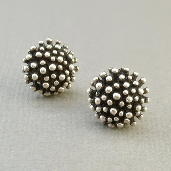 Vintage Sterling MODERNIST Stud EARRINGS Organic Sculptural Design c.1970's - Years After