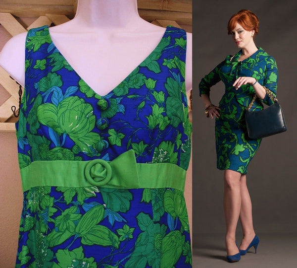 Sixties Mod SAKS Fifth Avenue SILK Dress Gown 1960's - Years After