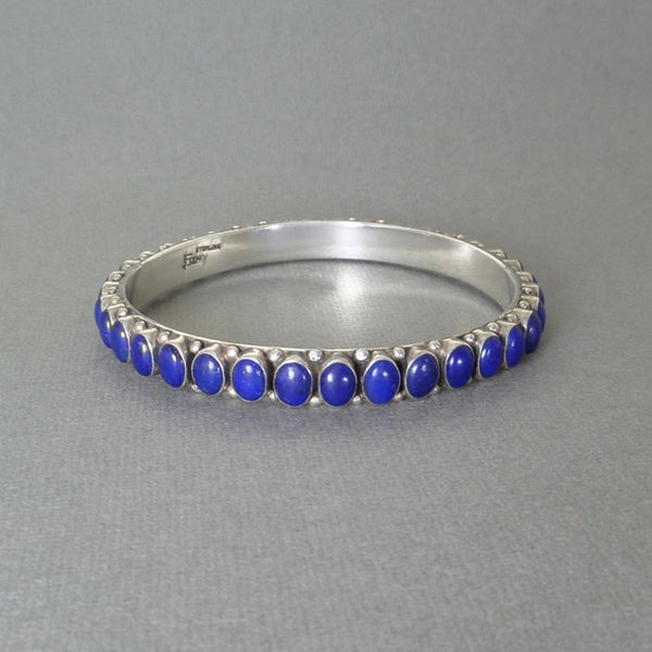 LEO FEENEY Sterling Lapis Lazuli Southwestern BANGLE Bracelet - Years After