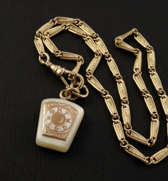 Antique Victorian Pocketwatch Watch Chain Masonic Fob Necklace - Years After