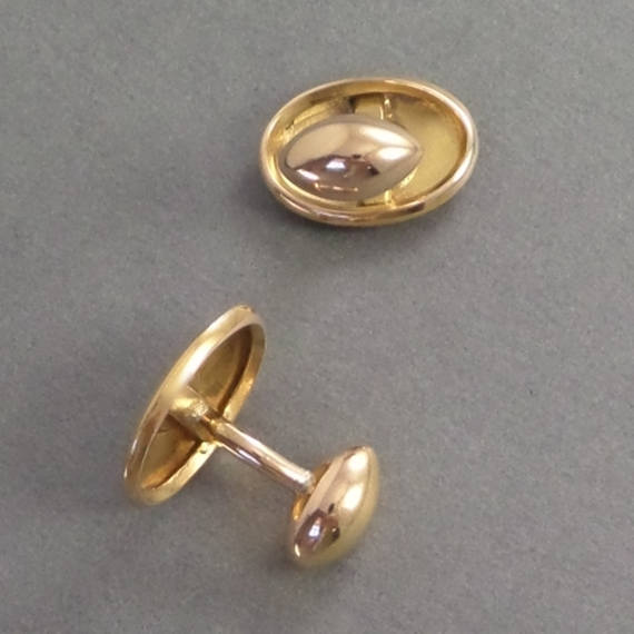 Antique 10K GOLD Victorian CUFFLINKS Initials BM - Years After
