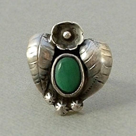 FRED HARVEY Era Native American Old Pawn RING Navajo Heart - Years After