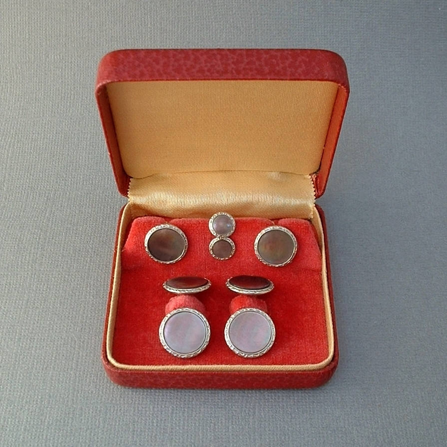 10K Antique LARTER & SONS Art Deco Cufflinks Set - Years After