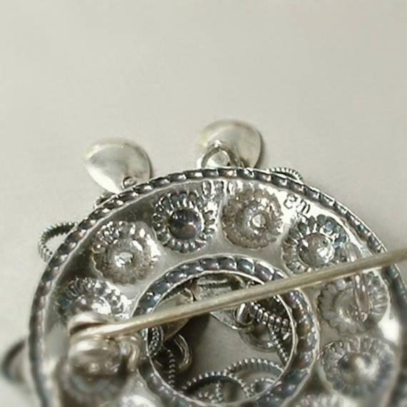 Vintage 830 Silver NORWEGIAN Solje WEDDING Brooch - Years After