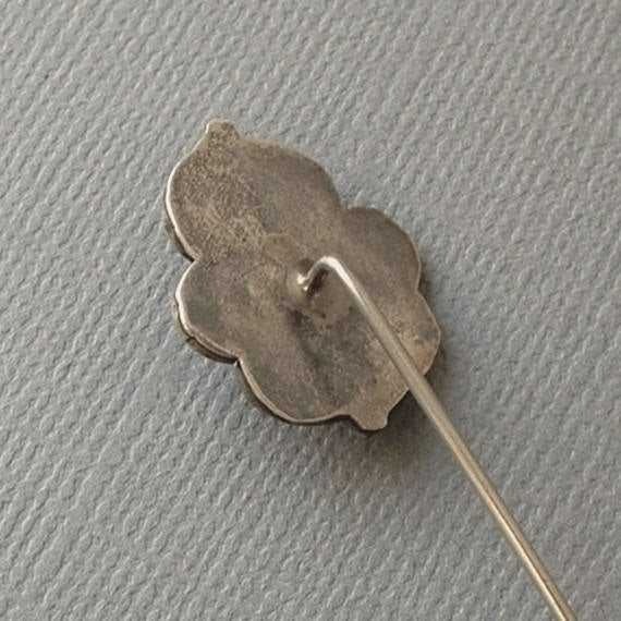 Vintage NATIVE American NAVAJO Moonstone CORAL Stickpin Sterling - Years After