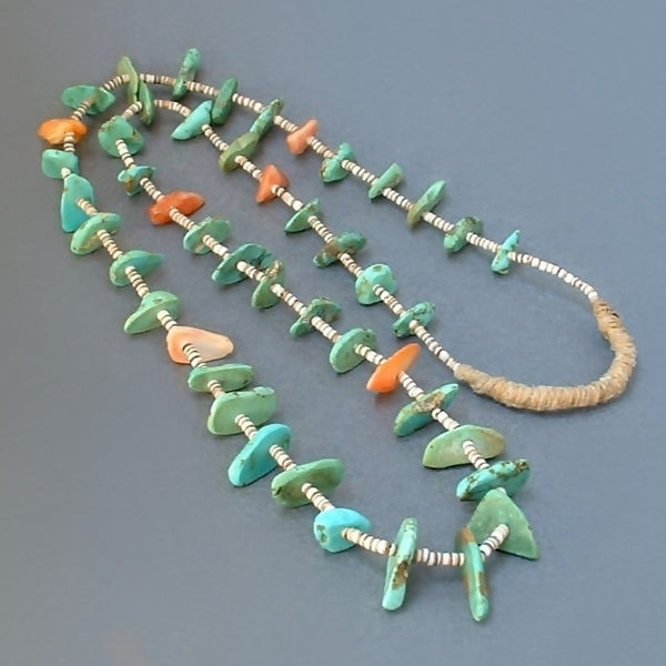 Vintage SANTO DOMINGO Native American TURQUOISE Necklace - Years After