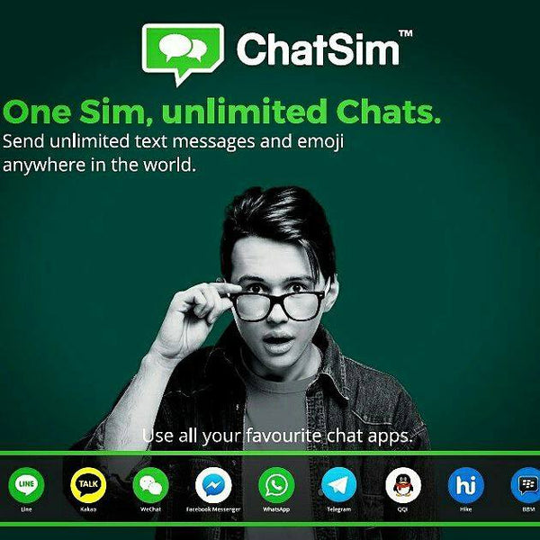 One Sim, unlimited chats. Chatsim Unlimited