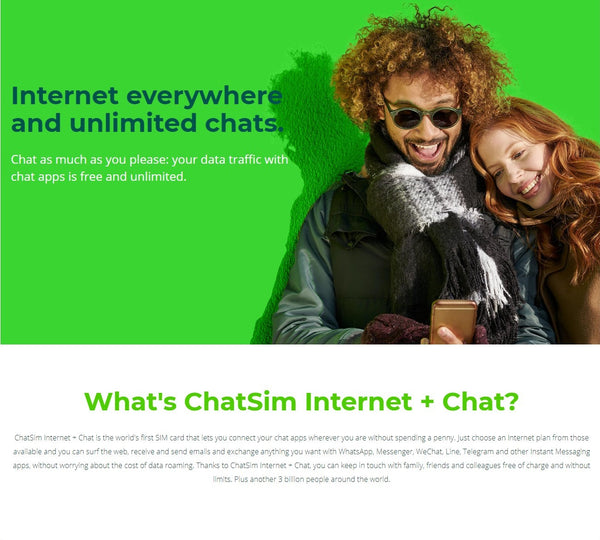 ChatSim 2 Internet + Unlimited Chatting Global SIM