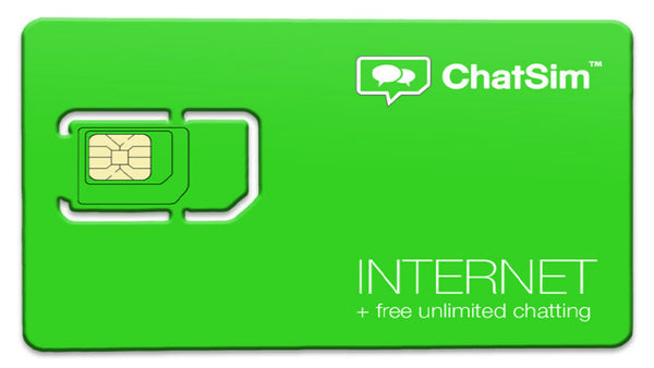 ChatSim 2 Internet + Free Unlimited Chatting Global SIM Card
