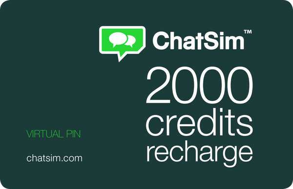 ChatSim 2000 Multimedia Credits Recharge PIN