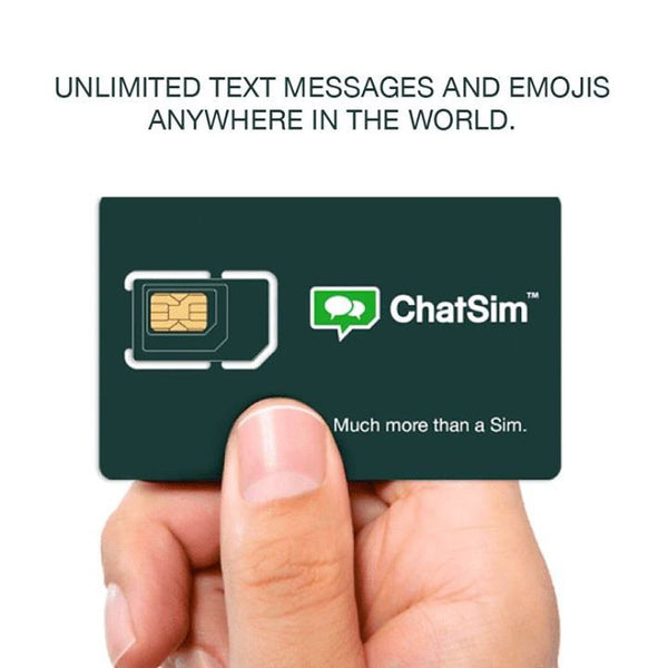 Unlimited text messages and emojis anywhere in the world with Chatsim Unlimited