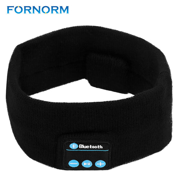 FORNORM Wireless Bluetooth Sports Fiber Earphone Stereo Music Headwear USB Rechargeable With Microphone For Running Exercise
